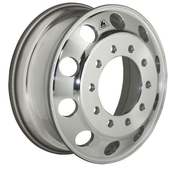 22 5in X 8 1 4in Aluminum Wheel Hub Pilot Polished Both Sides Truck Wheels Wheels Rims