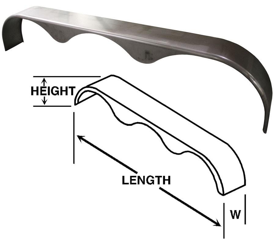 Half Tri Axle Fenders : Tri axle fender in long wide w tear drop
