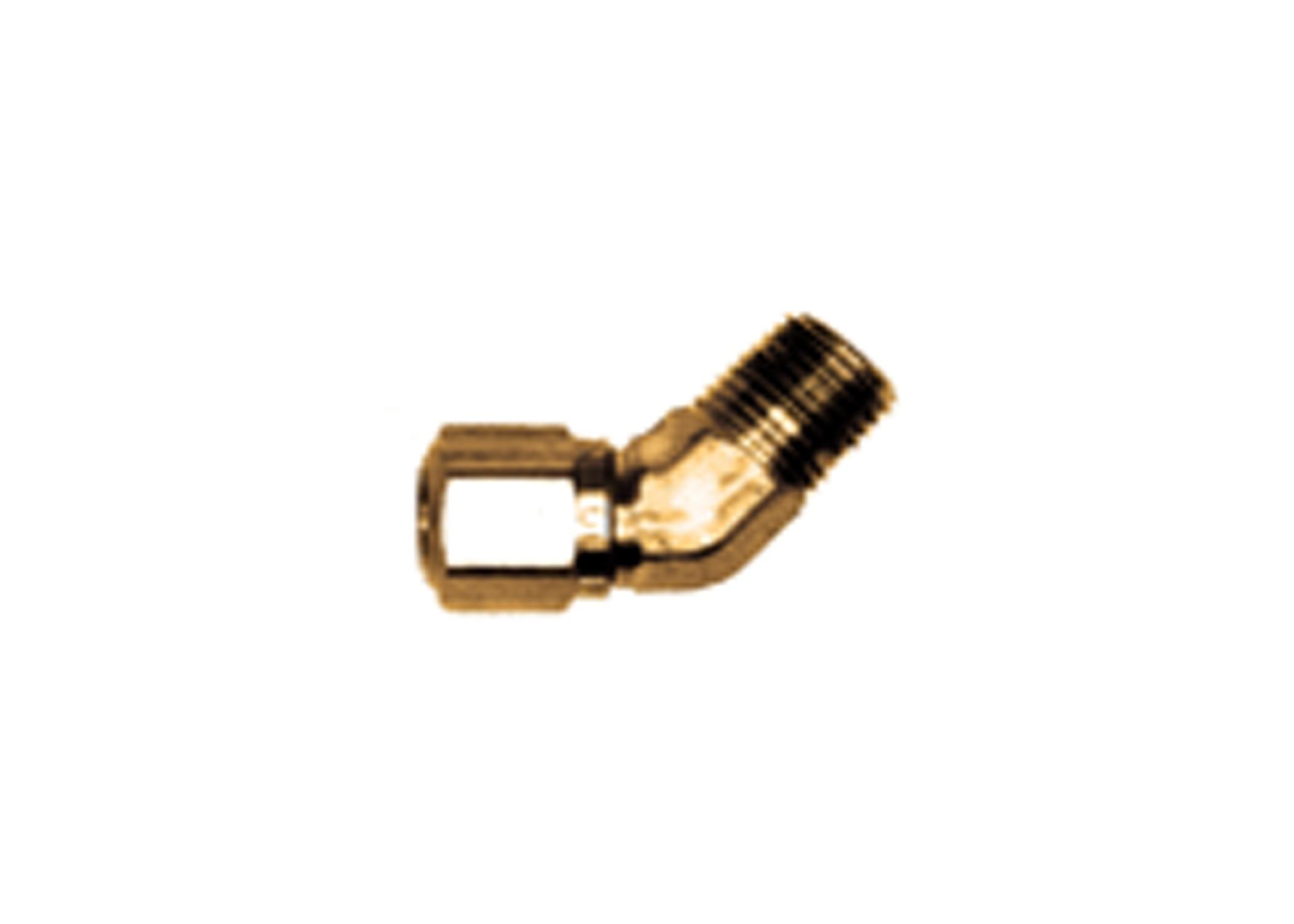 45 degree nylon tubing fitting  3  8in od  1  8in npt