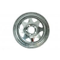 14in x 5 1/2in (5 LUG 4 1/2in BC, GALVANIZED SPOKE WHEEL)
