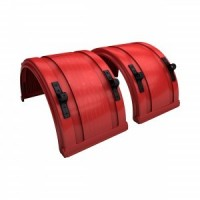 SPRAY MATE POLY FULL ROUND FENDERS (RED)(PAIR)
