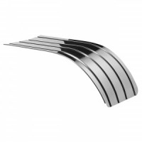 18 GAUGE GALVANIZED STEEL TANDEM FENDERS STANDARD DUTY SINGLE RADIUS