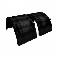 SPRAY MATE POLY FULL ROUND FENDERS (BLACK)(ONE)