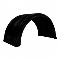 SPRAY MATE POLY FULL ROUND FENDERS W/ SLIDE TRAC (BLACK)(1 FENDER)