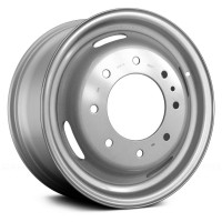 17in x 6 1/2in  (8 LUG 200MM BC, STEEL FORD DUAL WHEEL, SILVER)