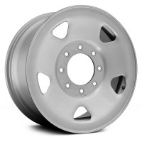 17in x 7 1/2in  (8 LUG 170MM BC, STEEL FORD SINGLE WHEEL, SILVER)