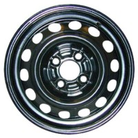 14in x 5 1/2in (4 LUG 100MM BC, STEEL PASS. WHEEL, BLK. RECON)