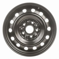 15in x 6in (5 LUG 4 1/2in BC, PASS. STEEL WHEEL, BLK.)