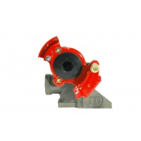 GLADHAND EMERGENCY (BRACKET STYLE, RED)