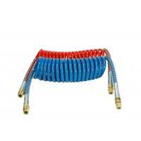 SET COILED AIR HOSE 15'