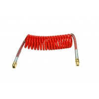 RED COILED AIR HOSE 15'