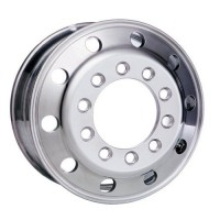 24.5 x 8 1/4in ALUMINUM WHEEL, STUD PILOT, (POLISHED INSIDE FOR REAR)