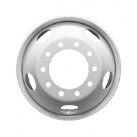 24.5 x 8.25 10 HOLE HUB PILOT/UNI-MOUNT WHEEL (WHITE)