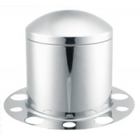 STAINLESS STEEL REAR AXLE COVER (10 LUG, 285MM BC.)