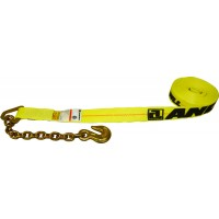 2in X 27' WINCH STRAP WITH CHAIN ANCHOR