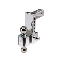 "ALUMINUM ADJUSTABLE BALL MOUNT (2"" BALL & 2 5/16"" BALL W/ 10"" DROP)"