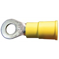 WIRE RING TERMINAL 3/8in STUD 12-10GA YELLOW (BAG OF 100)