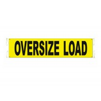 "18"" x 84""  WIDE OVERSIZE LOAD BANNER W/2 ROPE"