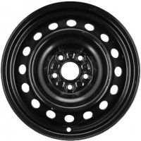 15in x 6in (5 LUG 4in BC, PASS. STEEL WHEEL, BLK.)