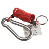 ZIP 4' TRAILER BREAKAWAY CABLE WITH SPLIT RING & CARABINEER CLIP
