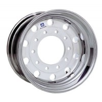 22.5in x 12 1/4in (10 HOLE 285.75MM BC, DUPLEX ALUMINUM WHEEL MACHINE FINISH)