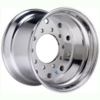 22.5in X 14in ALUMINUM DUPLEX REAR WHEEL( DURA BRIGHT)