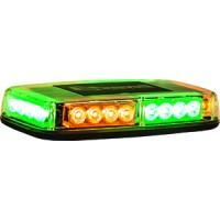 LED MINI LIGHTBAR (AMBER/GREEN)(MAGNETIC OR PERMANENT MOUNT)