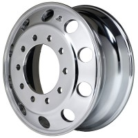 24.5inX8.25in ALCOA HUB PILOT WHEEL POLISH OUT SIDE W/DURA-BRIGHT (FRONT)