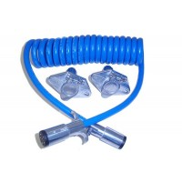 6 WAY COILED CORD SET