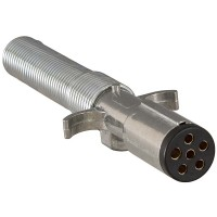6 WAY TRAILER END PLUG W/ SPRING