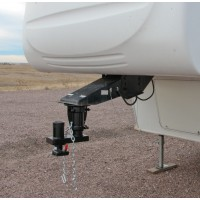 5th WHEEL TO GOOSENECK ADAPTER (OFFSET 12in-14in ADJ, CUSHIONED, 20K)