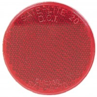 3 1/4in  RED  ROUND STICK ON REFLECTOR
