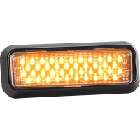 LED THINLINE STROBE 2-1/4in HX5-3/4inWX1/2 D (AMBER/WHITE)