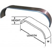 TANDEM STRAIGHT FENDER 72in LONG, 10 3/4in WIDE, 1in RADIUS