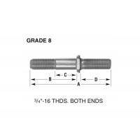 "RH 3/4"" - 16 DOUBLE END WHEEL STUD (BOX OF 10)"