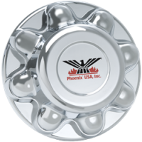 "ABS CHROME TRAILER HUB COVER (8 LUG, 6 1/2"" BC)"