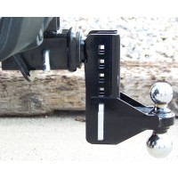 ADJUSTABLE BALL HITCH / RECIEVER WITH 2in AND 2-5/16in BALL