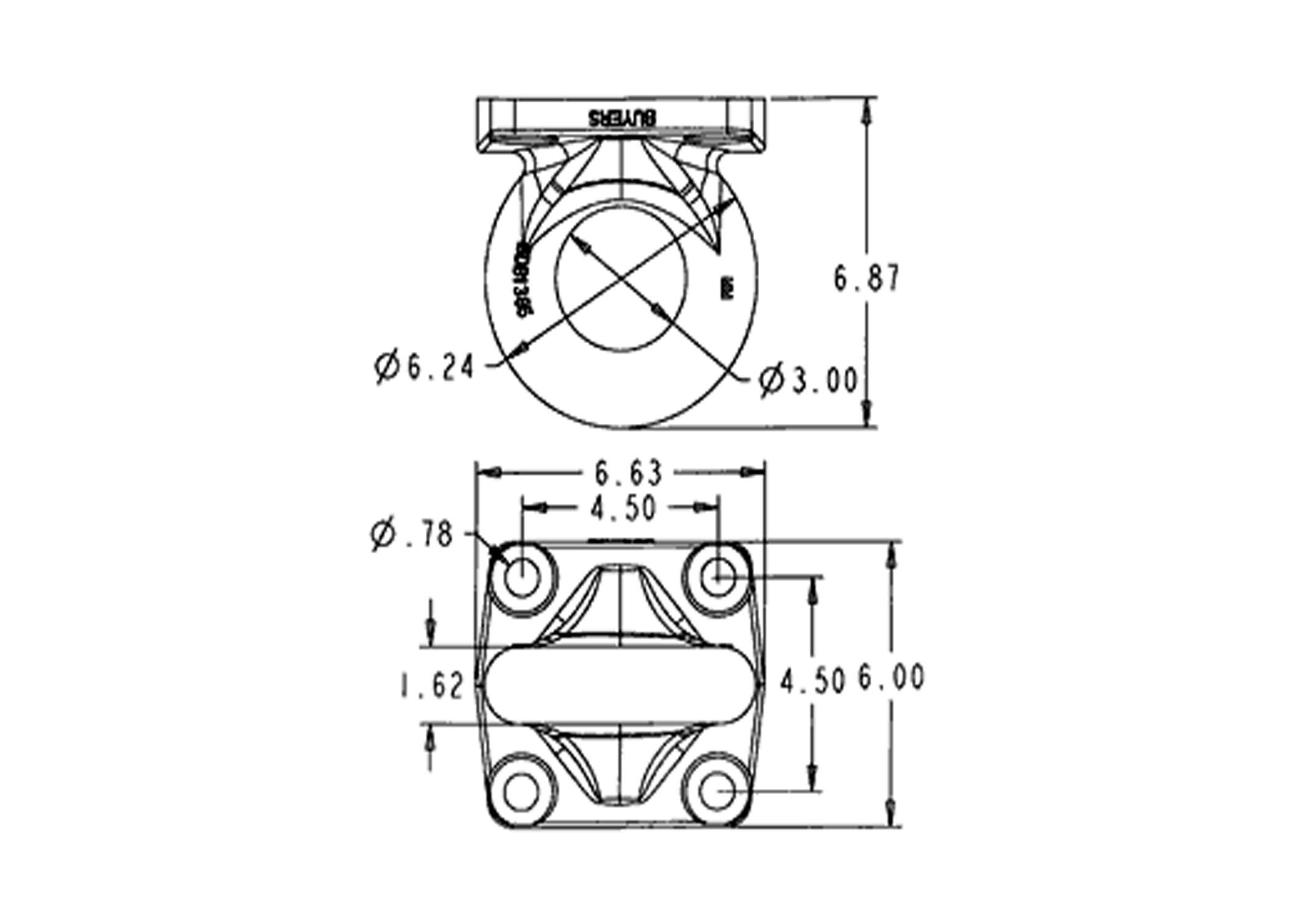 drawbar 4 bolt mount 30k - couplers  drawbars