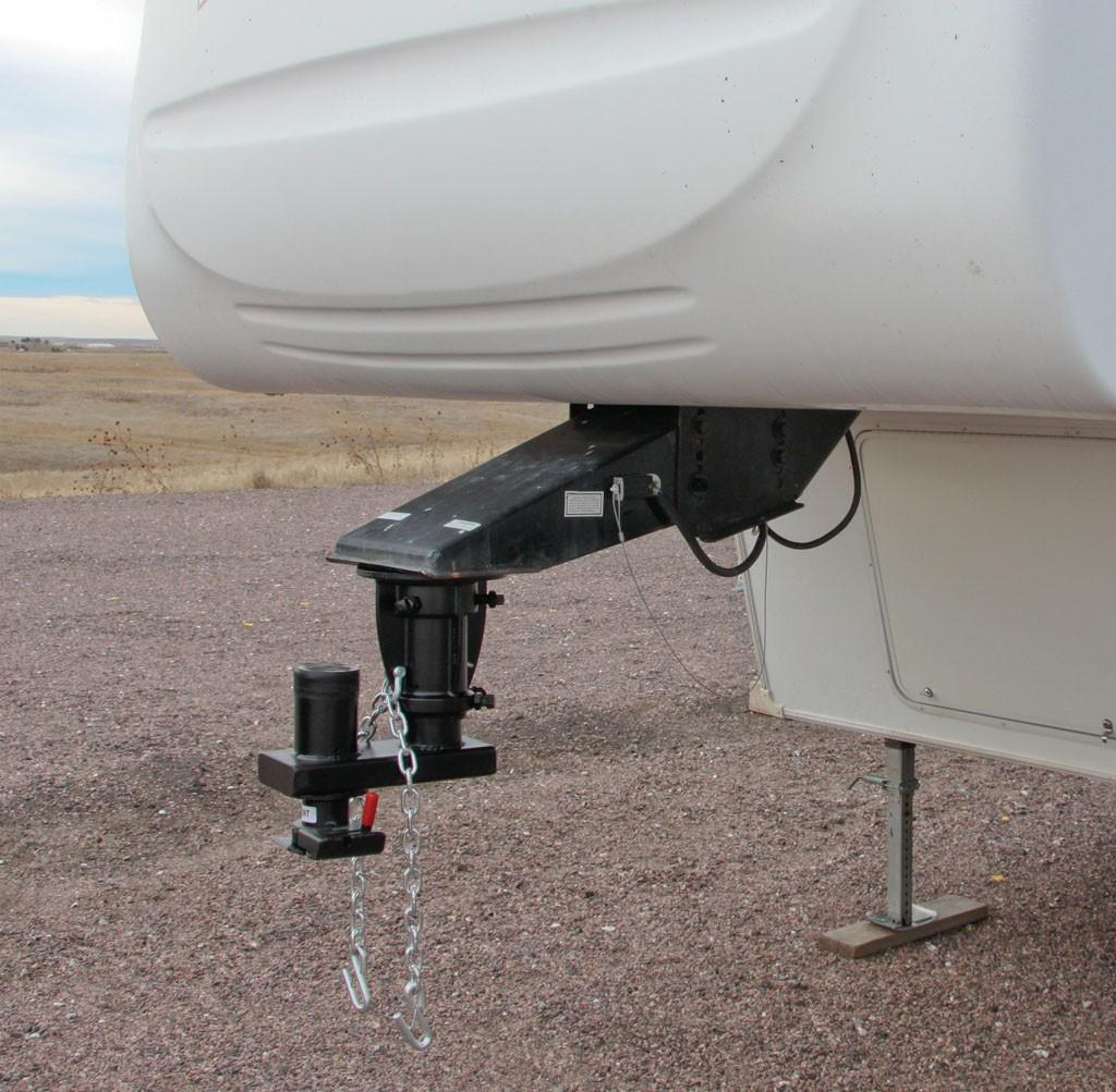 5th Wheel To Gooseneck Adapter  Offset 12in-14in Adj  Cushioned  20k    Gooseneck