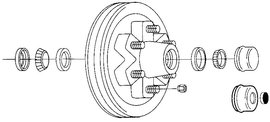 5k to 7k hub  u0026 drum kit  6 lug 5 1  2in bc    rotors
